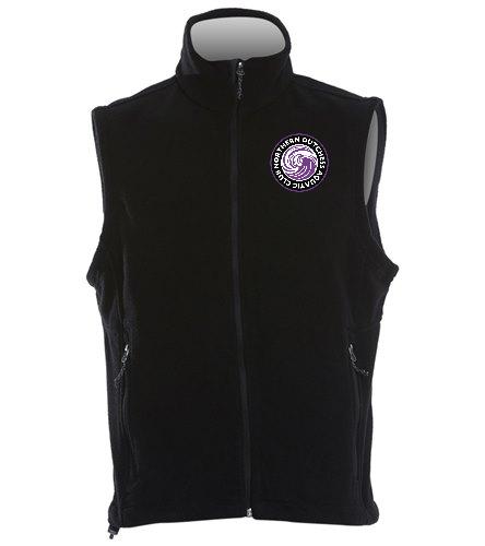 NDAC Black Fleece Vest - SwimOutlet Adult Men's Fleece Vest