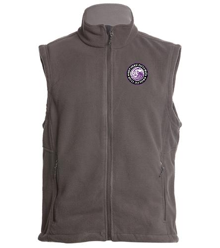 NDAC Logo Grey Vest - SwimOutlet Adult Men's Fleece Vest