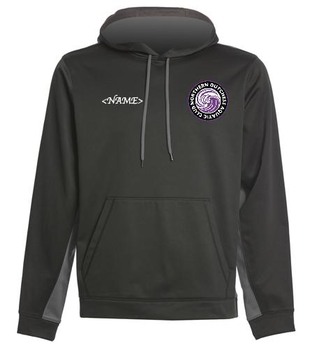 NDAC Logo Tech Hoodie - SwimOutlet Sport-Wick® Fleece Colorblock Hooded Pullover