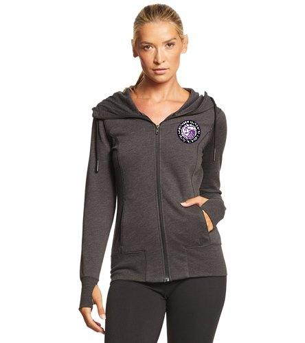 NDAC Logo ZIp Up Hoodie - SwimOutlet New Era® Women's Tri-Blend Fleece Full-Zip Hoodie