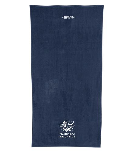 Tuna  Logo - Royal Comfort Terry Velour Beach Towel 32 X 64