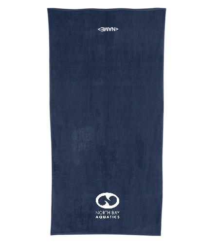 Team Logo - Royal Comfort Terry Velour Beach Towel 32 X 64