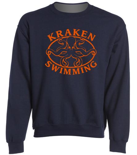 Kraken Sweatshirt - Navy - SwimOutlet Heavy Blend Unisex Adult Crewneck Sweatshirt