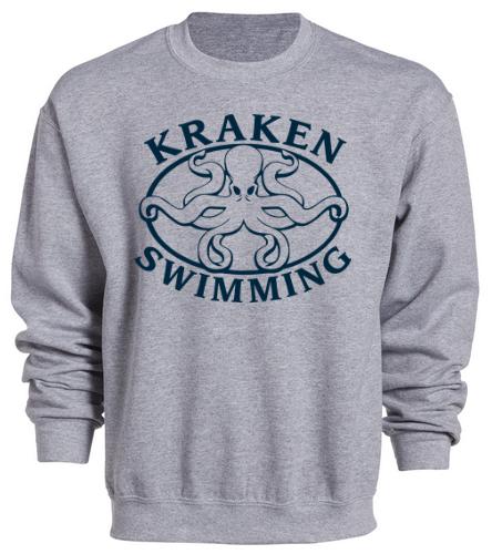 Kraken Sweatshirt - Grey - SwimOutlet Heavy Blend Unisex Adult Crewneck Sweatshirt
