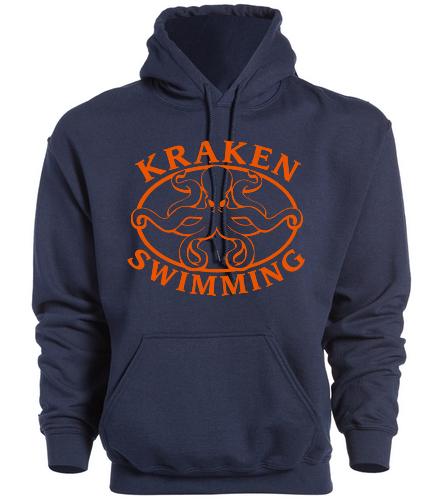 Kraken Hoodie - Navy - SwimOutlet Heavy Blend Unisex Adult Hooded Sweatshirt