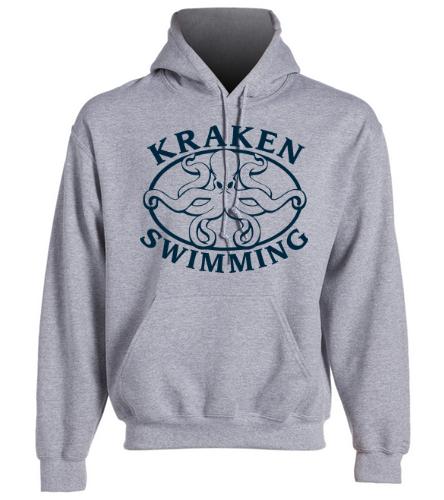 Kraken Hoodie - Grey - SwimOutlet Heavy Blend Unisex Adult Hooded Sweatshirt