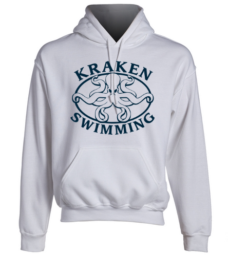 Kraken Hoodie - White - SwimOutlet Heavy Blend Unisex Adult Hooded Sweatshirt
