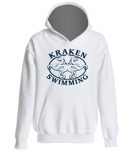 White Youth Hoodie - SwimOutlet Youth Heavy Blend Hooded Sweatshirt
