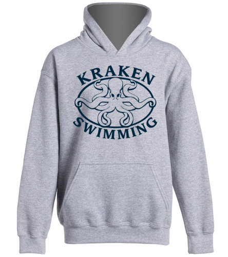 Grey Youth Hoodie - SwimOutlet Youth Heavy Blend Hooded Sweatshirt