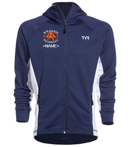 Men's Kraken Warm-Up Jacket - TYR Alliance Victory Male Warm Up Jacket