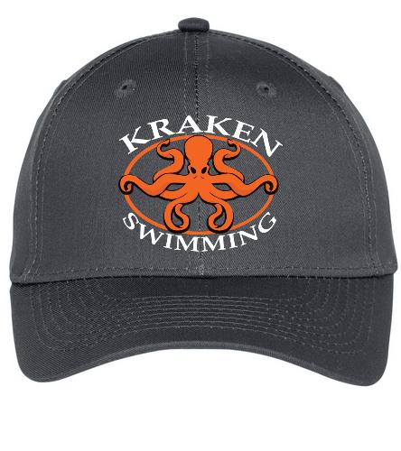 Grey Kraken Hat - SwimOutlet Unisex Performance Twill Cap
