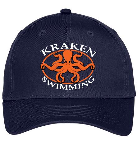 Navy Kraken Hat - SwimOutlet Unisex Performance Twill Cap