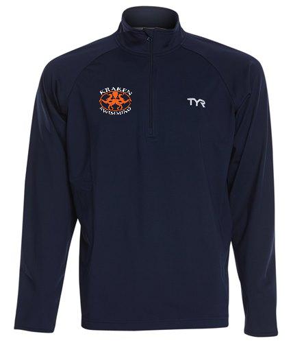 Kraken Pullover - TYR Men's Alliance 1/4 Zip Pullover Jacket