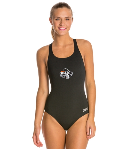 Thick strap Stingrays Girl's swim suit - Arena Madison MaxLife Athletic Thick Strap Racer Back One Piece Swimsuit