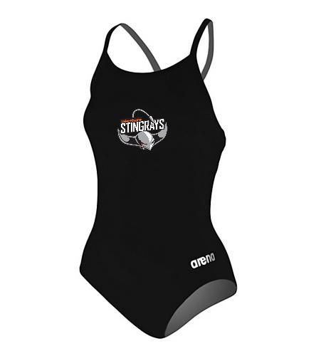 Girls Swim Suit - Arena Women's Master MaxLife Sporty Thin Strap Racer Back One Piece Swimsuit