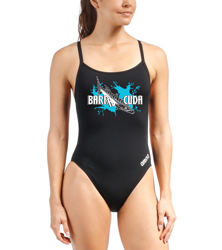 Cuda242 Women Racer Back Black - Arena Women's Mast MaxLife Thin Strap Open Racer Back One Piece Swimsuit
