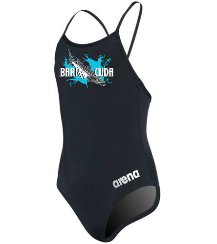 Cuda242 Girls Micro Back Black - Arena Girls' Master MaxLife Thin Strap Micro Back One Piece Swimsuit