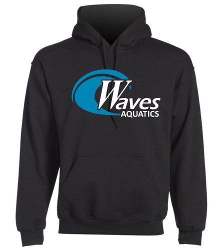 WANV Adult Black Sweatshirt - SwimOutlet Heavy Blend Unisex Adult Hooded Sweatshirt