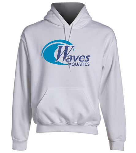 WANV Adult White Sweatshirt - SwimOutlet Heavy Blend Unisex Adult Hooded Sweatshirt
