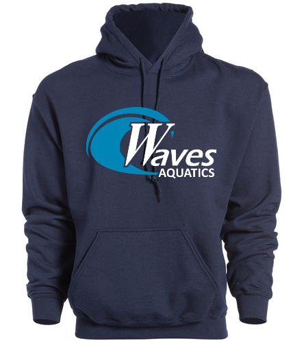 WANV Adult Navy Sweatshirt - SwimOutlet Heavy Blend Unisex Adult Hooded Sweatshirt