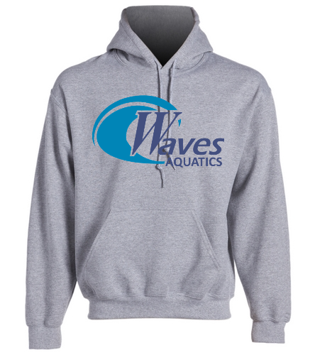 Grey Adult Hoodie - SwimOutlet Heavy Blend Unisex Adult Hooded Sweatshirt