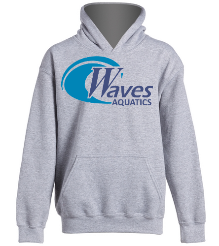 WANV Youth Grey Hoodie - SwimOutlet Youth Heavy Blend Hooded Sweatshirt