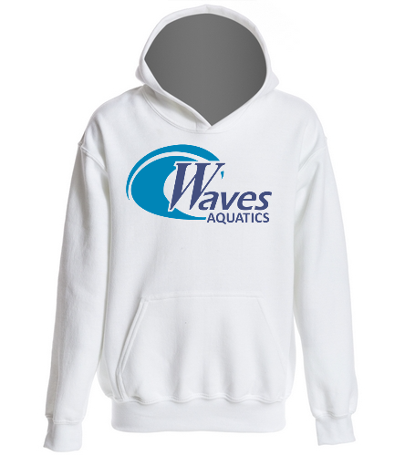 WANV Youth White Hoodie - SwimOutlet Youth Heavy Blend Hooded Sweatshirt