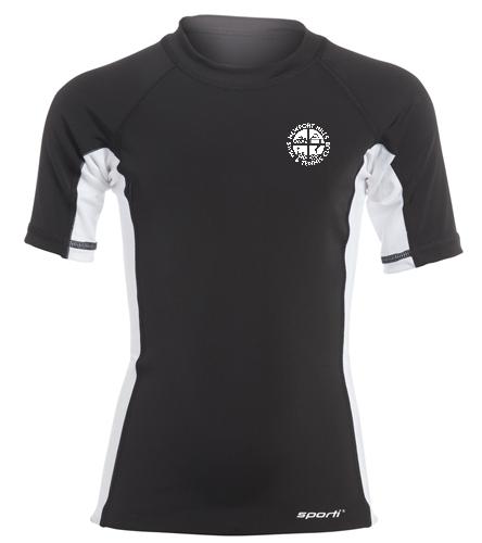 NHSTC Short Sleeve Rash Guard - Sporti Youth Unisex S/S UPF 50+ Sport Fit Rash Guard