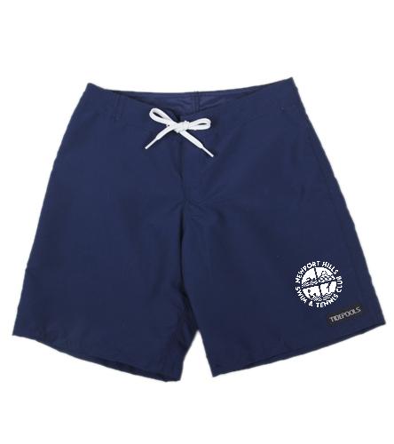 NHSTC Boardshorts - Tidepools Girls' Solid Long Boardshorts (Big Kid)