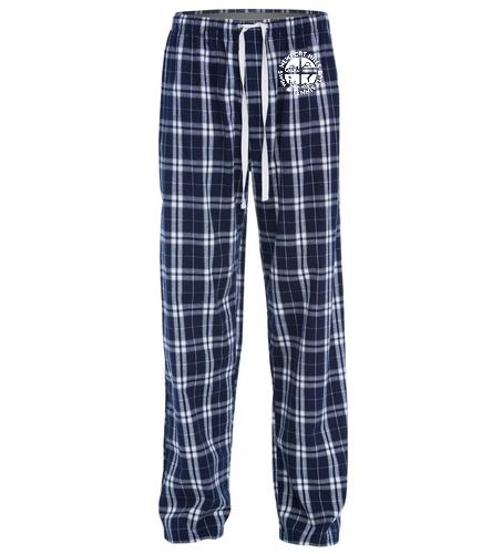 NHSTC Navy Pjs - SwimOutlet Unisex Flannel Plaid Pant