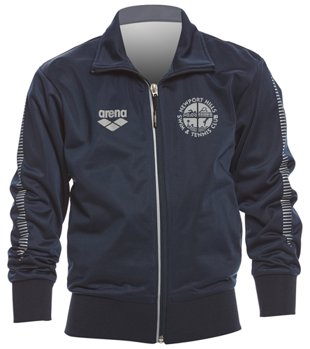 NHSTC Poly Jacket grey - Arena Youth Team Line Knitted Poly Jacket
