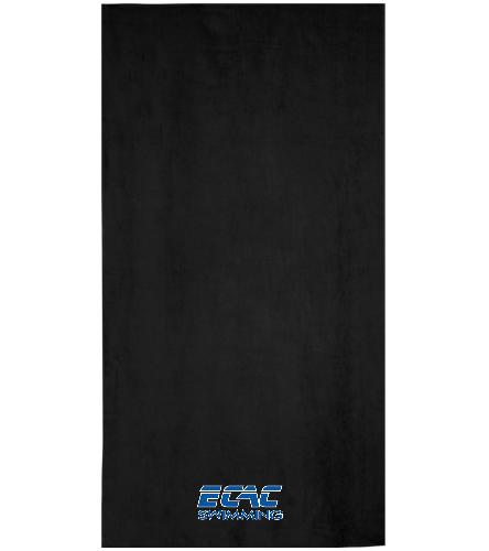 ECAC BLACK - Royal Comfort Terry Velour Beach Towel 32 X 64