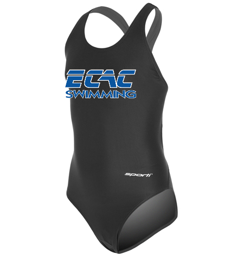 ECAC - Sporti Solid Wide Strap One Piece Swimsuit Youth (22-28)