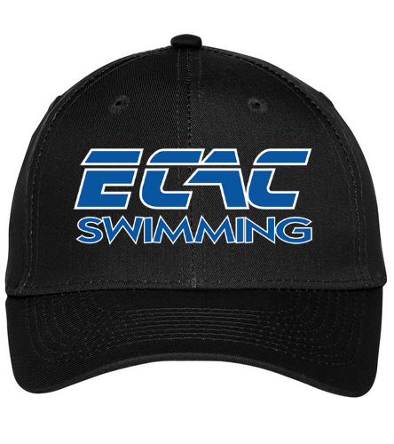 ECAC BLACK - SwimOutlet Unisex Performance Twill Cap