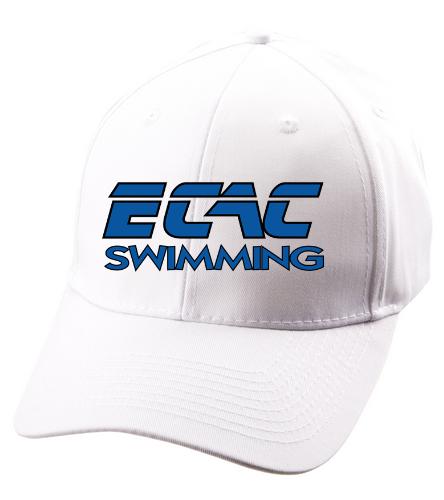 ECAC WHITE - SwimOutlet Unisex Performance Twill Cap