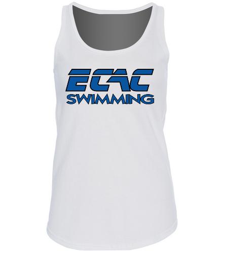 ECAC WHITE - SwimOutlet Women's Cotton Racerback Tank Top