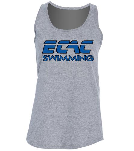 ECAC GRAY - SwimOutlet Women's Cotton Racerback Tank Top