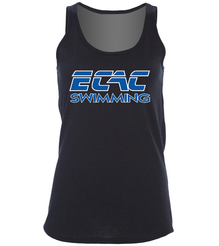 ECAC BLACK - SwimOutlet Women's Cotton Racerback Tank Top