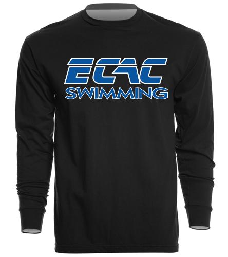 ECAC BLACK - SwimOutlet Unisex Long Sleeve Crew/Cuff