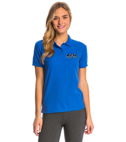 ECAC BLUE - SwimOutlet Women's Pique Polo