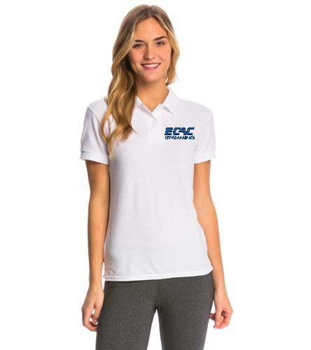ECAC WHITE - SwimOutlet Women's Pique Polo