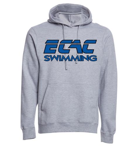 ECAC GRAY - SwimOutlet Adult Fan Favorite Fleece Pullover Hooded Sweatshirt