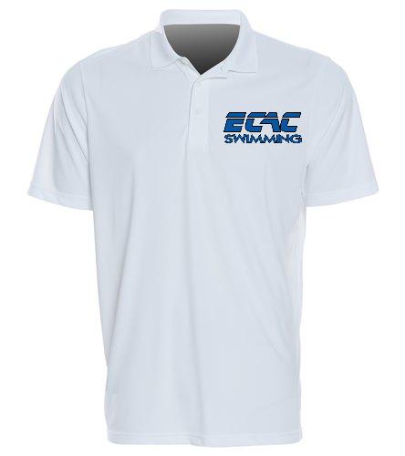 ECAC WHITE - SwimOutlet Sport-Tek®PosiCharge® Competitor™Polo