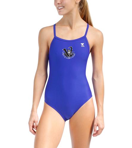 Vikings Women's Team Suit Blue - TYR Women's TYReco Solid Diamondfit One Piece Swimsuit