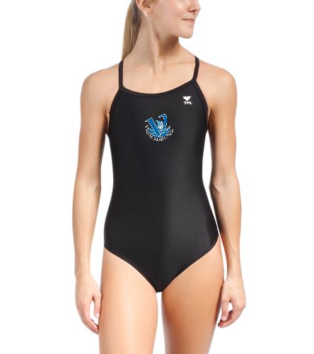Vikings Women's Team Suit Black - TYR Women's TYReco Solid Diamondfit One Piece Swimsuit
