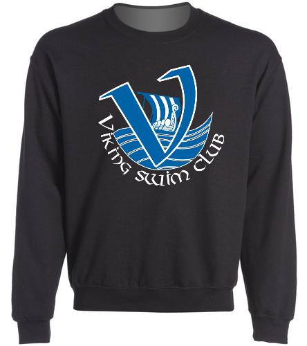 Viking's Adult Crewneck Black - SwimOutlet Heavy Blend Unisex Adult Crewneck Sweatshirt
