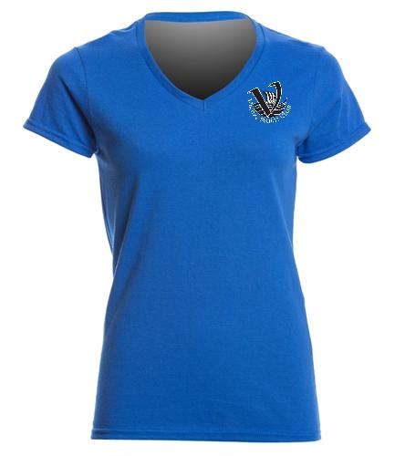 Viking Women's V-neck - SwimOutlet Women's Cotton V-Neck T-Shirt