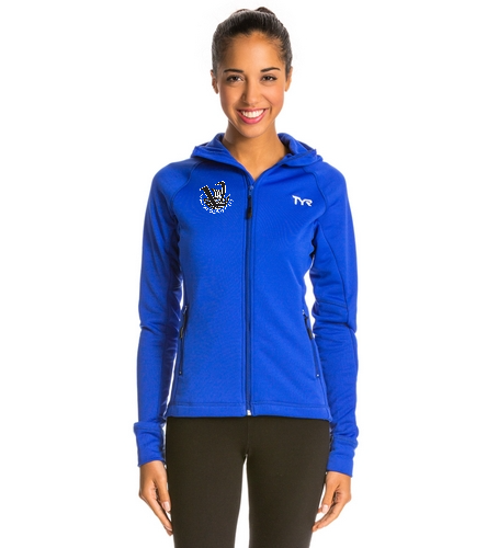 Viking's Women's Warm-up Jacket Blue - TYR Alliance Victory Women's Warm Up Jacket