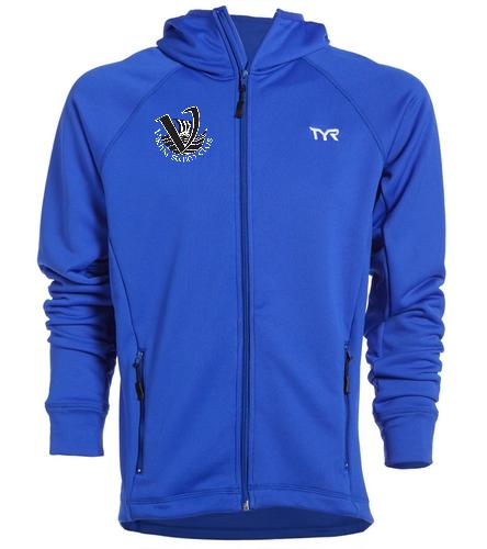 Viking's Men's Warm-up Jacket Blue - TYR Alliance Victory Male Warm Up Jacket