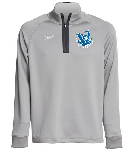 Vikings Adult Quarter Zip - Speedo Unisex 3/4 Zip Sweatshirt